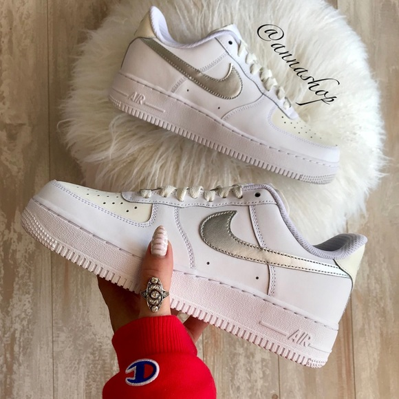 size 40 dd7f2 09352 NWT Nike ID Air Force 1 Custom Leather